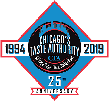 Chicago's Taste Authority 25th Anniversary Logo