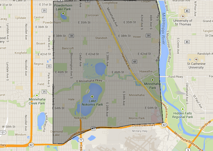 Minneapolis Delivery Area